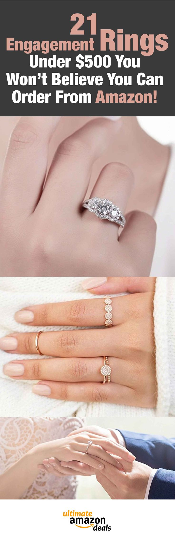 21 Engagement Rings Under $500 You Won't Believe You Can Order From Amazon!