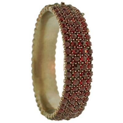 Garnet bracelet.