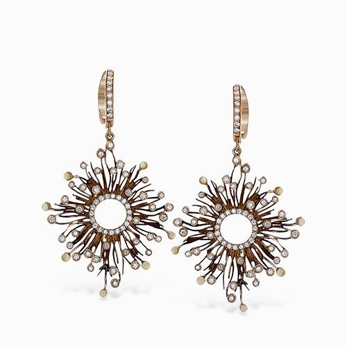These striking earrings are feature .94 ctw of diamonds set within a beautiful s...