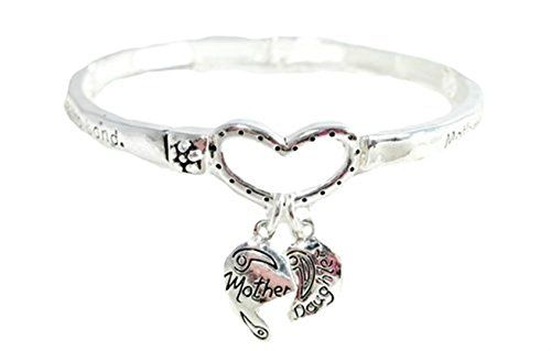 Mother Daughter Stretch Bracelet G8 C25 Bangle Mom Heart ... www.amazon.com/...