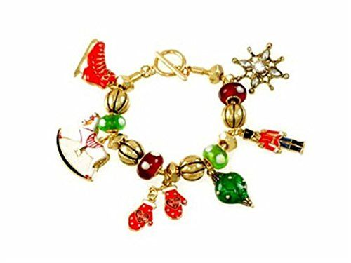 Christmas Toy Bracelet G6 Charm Murano Bead Skates Rockin... www.amazon.com/...