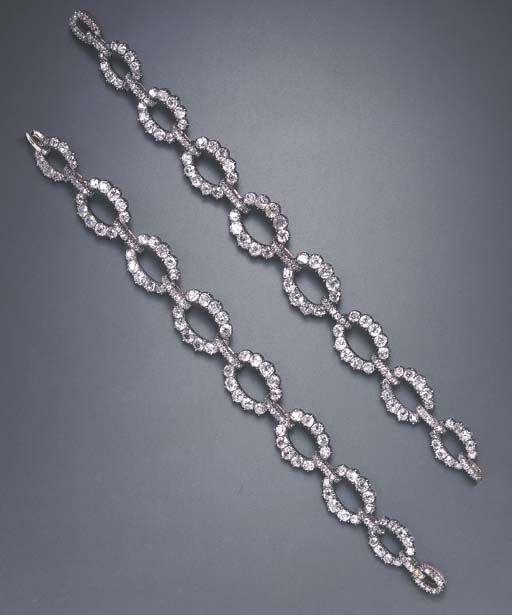 Diamond bracelets.