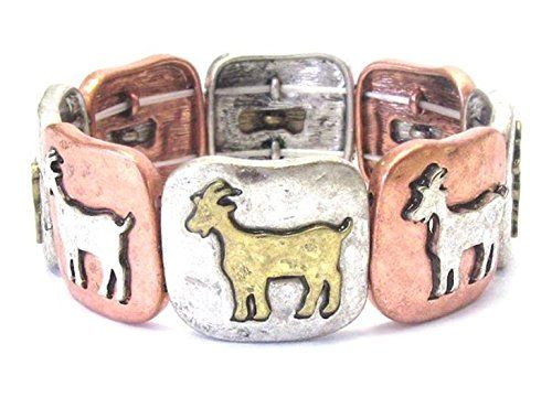 Goat Stretch Charm Bracelet D12 Billy Kid Silver Gold Cop... www.amazon.com/...