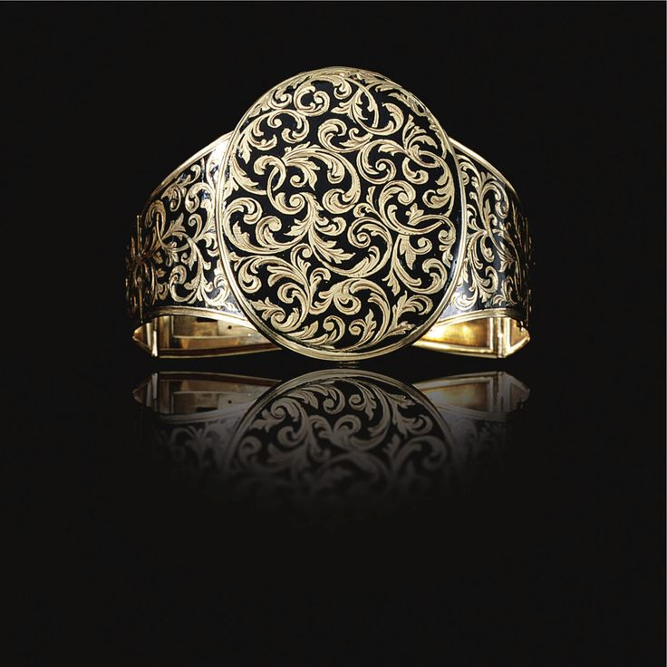 Gold and enamel bracelet.