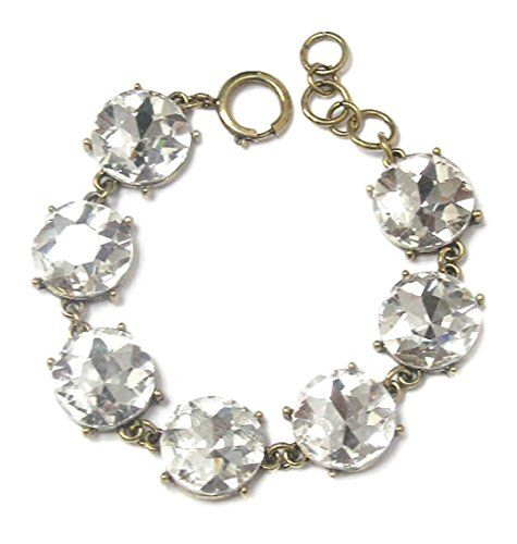 Gorgeous Round Stone Crystal Bracelet Z12 Clear in Gold T... www.amazon.com/...