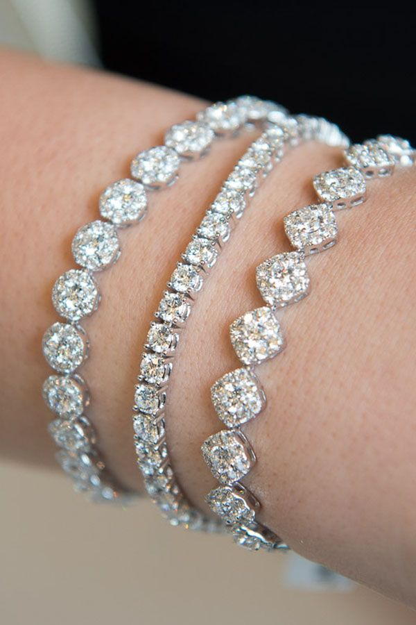 Add a little bit of sparkle or add a lot, with diamond bracelets to suit your st...
