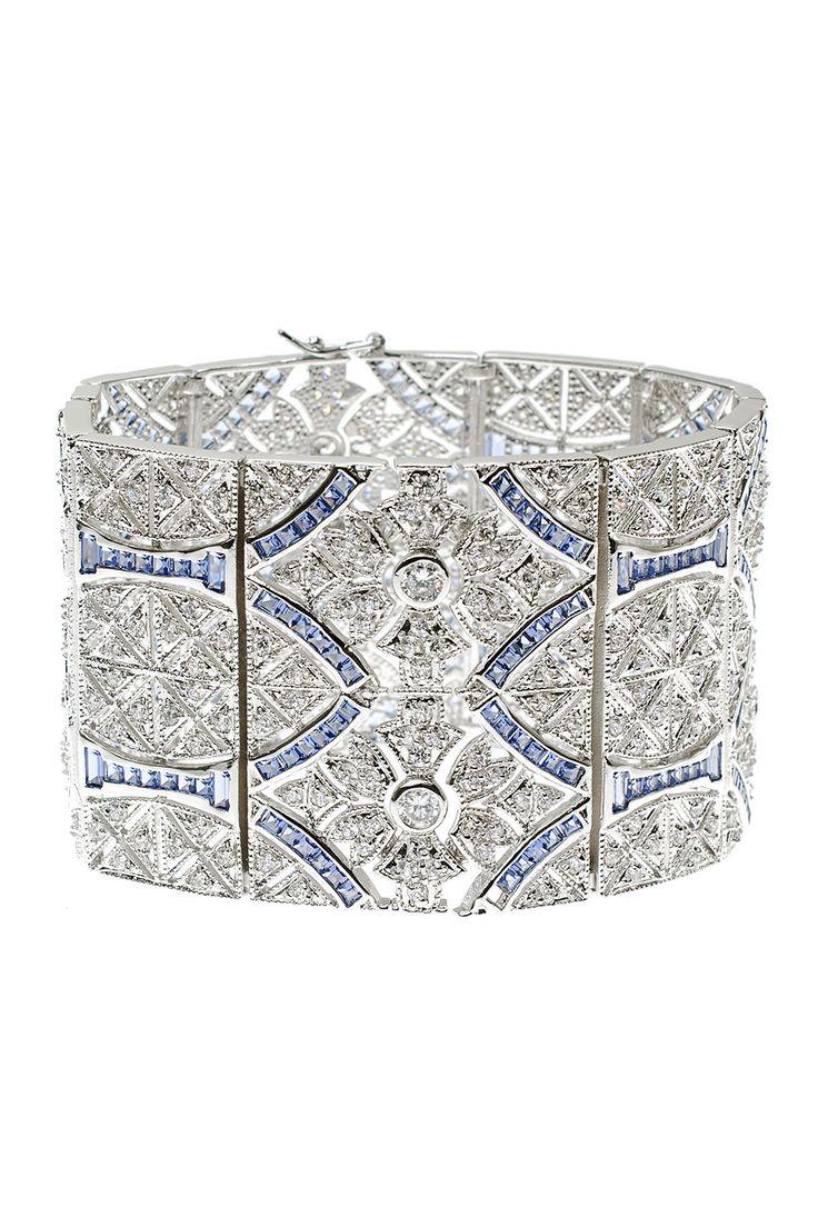 Art Deco diamond and sapphire Bracelet.
