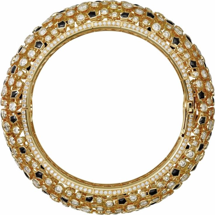 CARTIER. Bracelet - or jaune, onyx, diamants taille brillant. #Cartier #Étourdi...