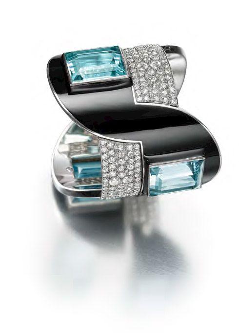 Diamond and Enamel bracelet by Jean Fouquet