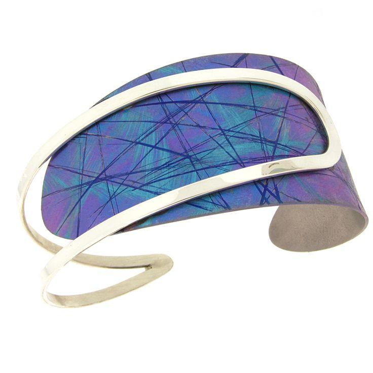 Jean-Yves Nantel - Blue Titanium B219 Bracelet | The titanium is anodized this s...