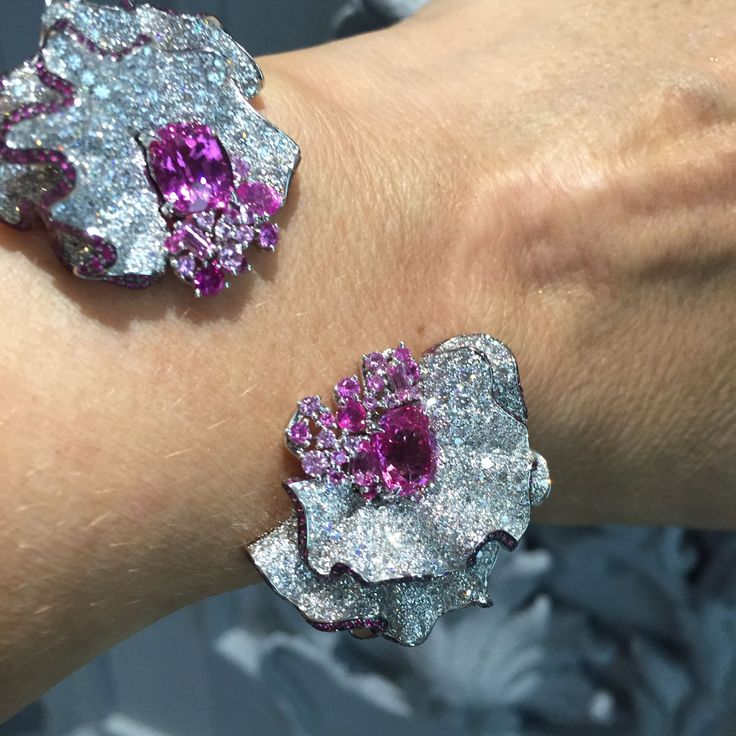 On our Lust-List this month - #pinksapphires, #diamonds and #rubies mimicking th...