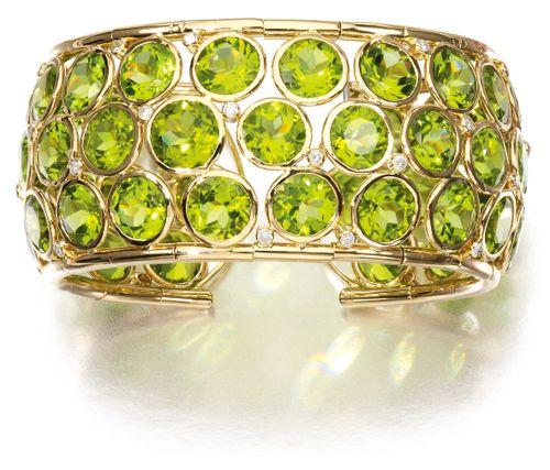 Peridot and diamond cuff, my birth stone ❤️