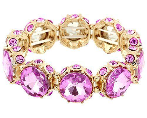Light Purple Stretch Bracelet BS Round Crystal Glass Ston... www.amazon.com/...