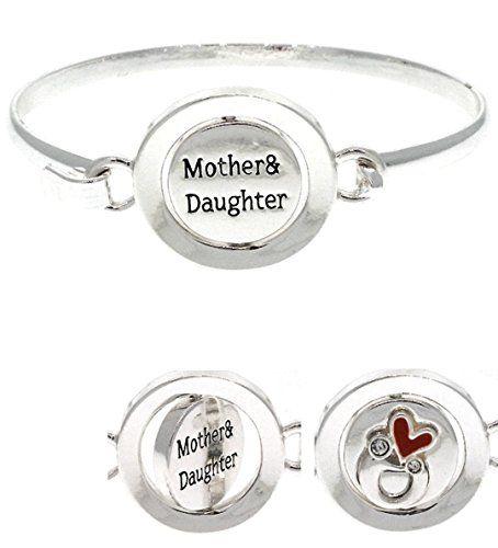 Mother Daughter Bracelet BV Red Heart Inspirational Famil... www.amazon.com/...