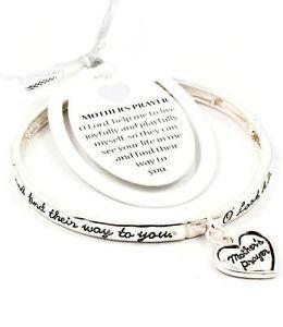 Mothers Prayer Stretch Bracelet Heart Charm BN Inspiratio... www.amazon.com/...