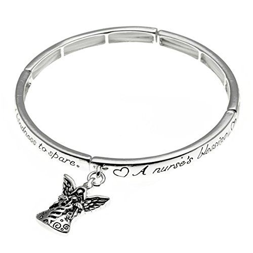 Nurse Blessing Stretch Bangle Bracelet Charm Angel Lovely... www.amazon.com/...