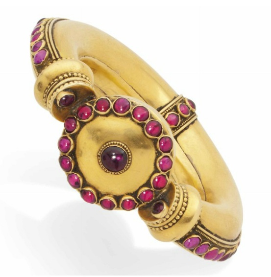 Ruby and gold bracelet.