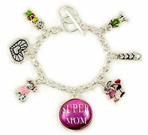 Super Mom Mother Charm Bracelet Z7 Heart Children Silver ... www.amazon.com/...
