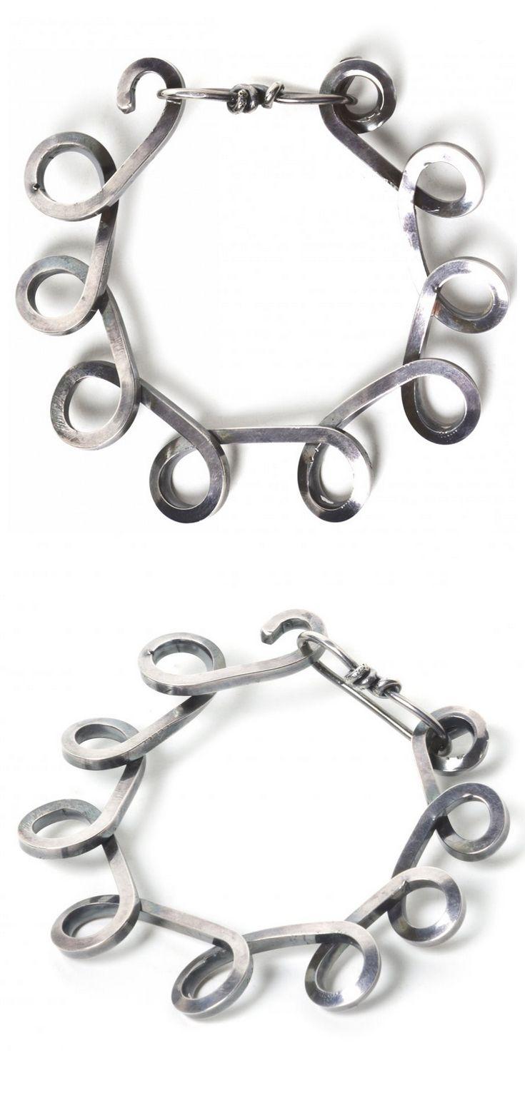 Bracelet | Alexander Calder. Sterling silver. ca. 1940s