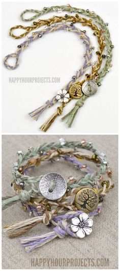 DIY Braided Bead Bracelet Tutorial from Happy Hour Projects.Bracelet DIYs from H...