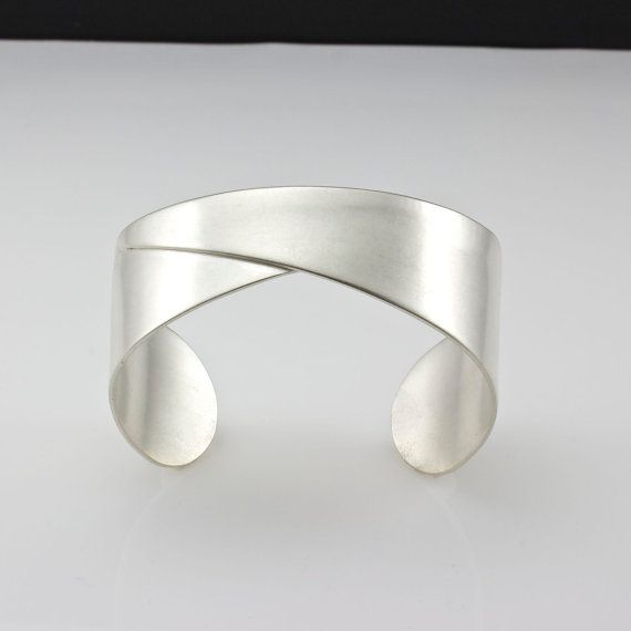 Sterling Silver Cuff Bracelet Handcrafted by PatCahillMetalworks, $140.00