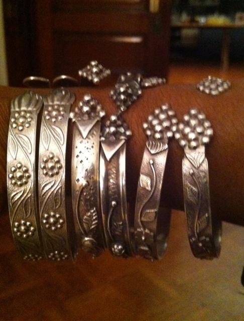 West Indian silver bangles. When I moved to NY from the south as a child, all th...