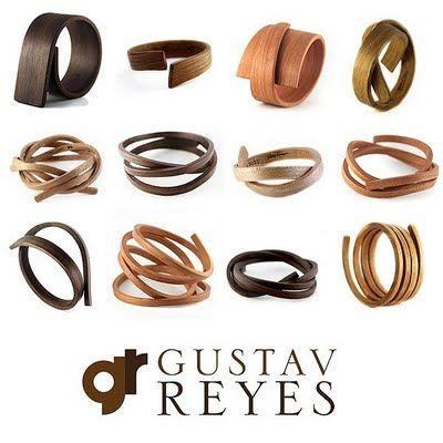 limited edition bent wood bracelets & cuffs by Gustav Reyes