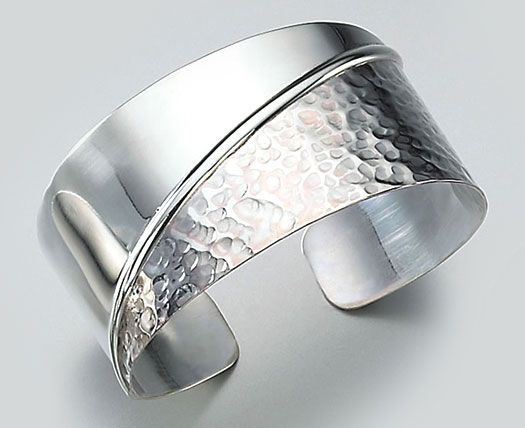 63550319f4a sterling silver jewelery home material silver silver cuff bracelet half  hammered.