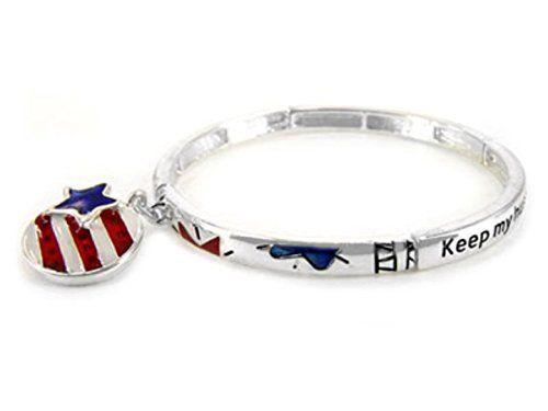 Wife Stretch Bracelet D13 Military Keep My Husband Safe S... www.amazon.com/...