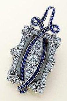 89eba5f70a92e Brooches : An elegant Art Deco diamond and hematite pendant watch ...