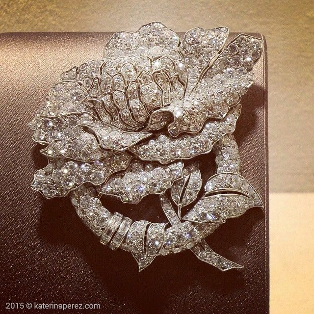 0f2a1403ee359 Brooches : Can you believe it that this #diamond #rose #brooch is ...