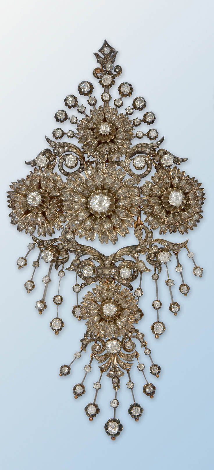Brooches Diamond Bodice Prnament Brooch France 19th