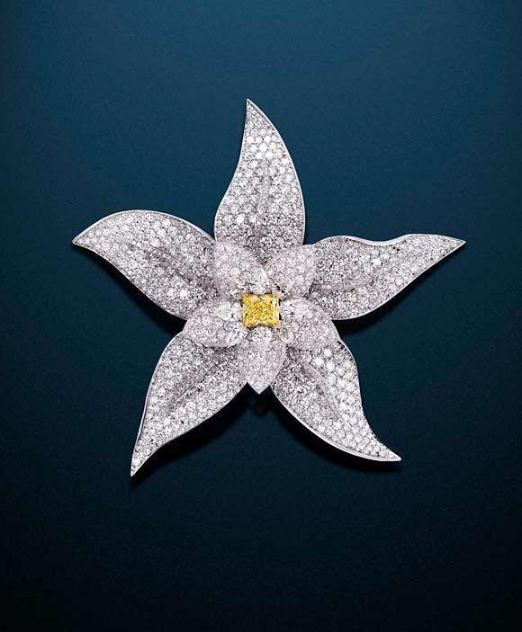 Graff Diamond Flower Brooch     Exquisite diamond design.    graff.com