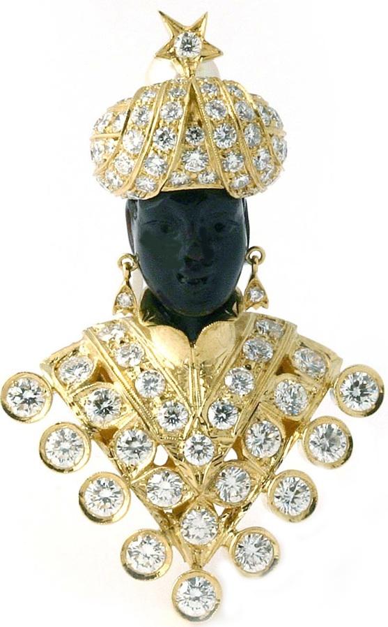 El Moretto de Grace Kelly  Oro amarillo y diamantes  La casa Nardi lo edita como...