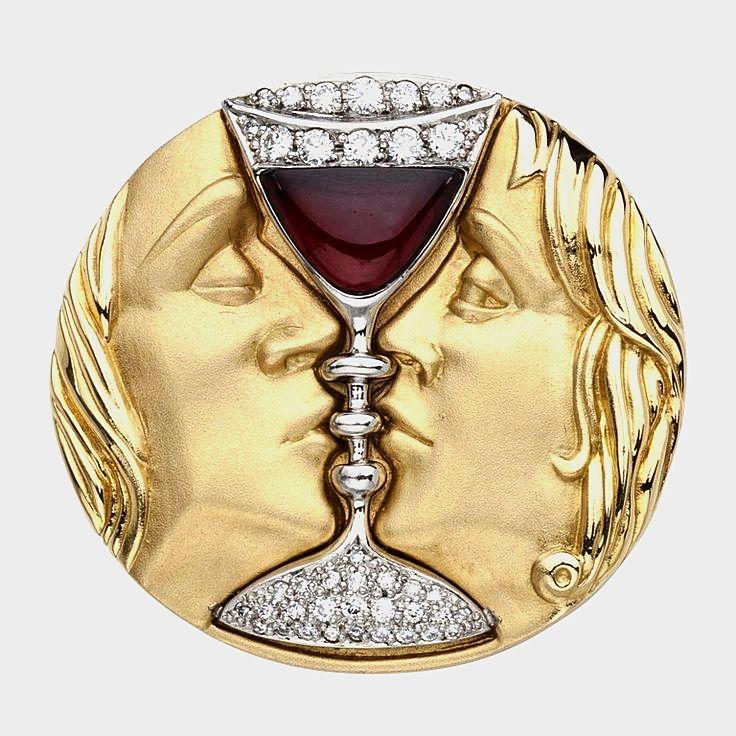 "Tristan & Isolde Brooch  Salvador Dali   ""The romantic opera Tristan & Isolde ..."
