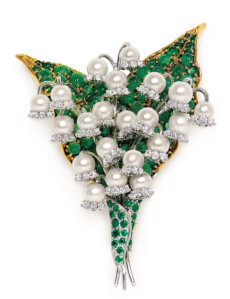 Lily of the Valley brooch by Fulco di Verdura. I love Lily of the Valley.