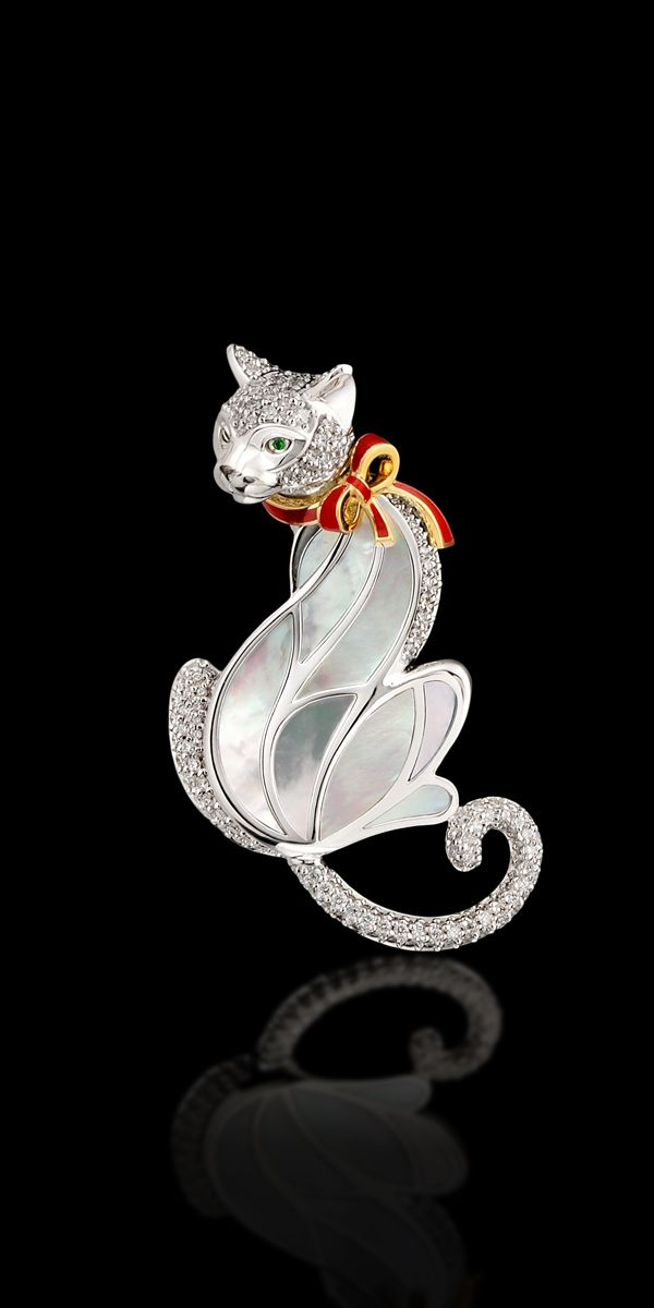 Master Exclusive Jewellery Animal World yellow and white gold 750, brilliants, t...