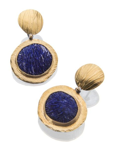 Azurite crystal earrings |♦F&I♦