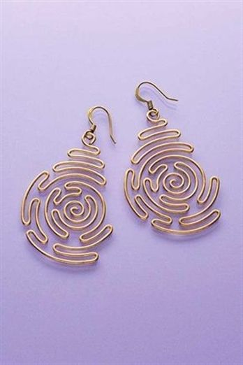 Combine geometry with art to create these visually intriguing earrings. #Jewelry...
