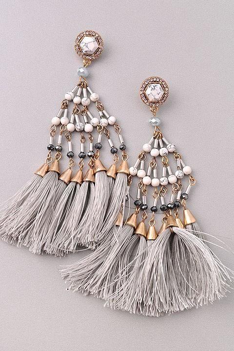 Grey earrings  |♦F&I♦