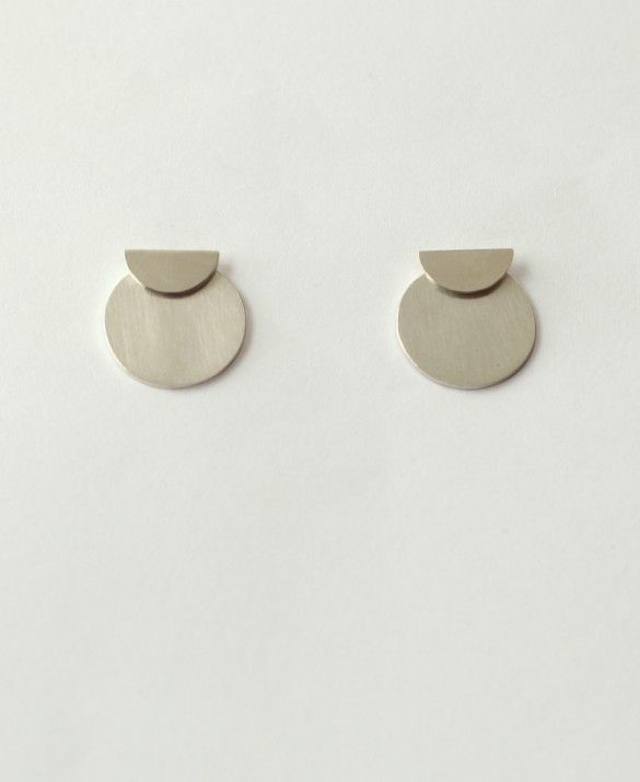 Half Circle/Circle silver earrings -it's all about a perfect balance between...
