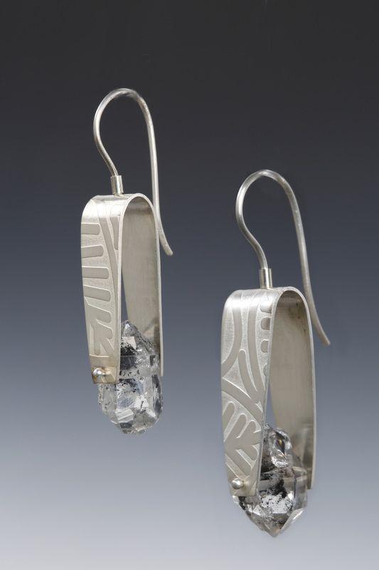 Lona Northener Earrings.  Sterling, Herkimer Diamonds.  ♦F&I♦