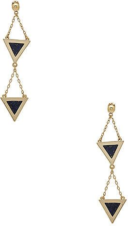 Michelle Campbell Double Tri Stone Inlay Dangle Earrings |♦F&I♦