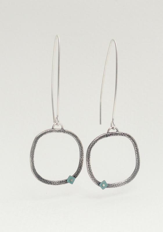Production Work -Tova Lund, silver modern earrings