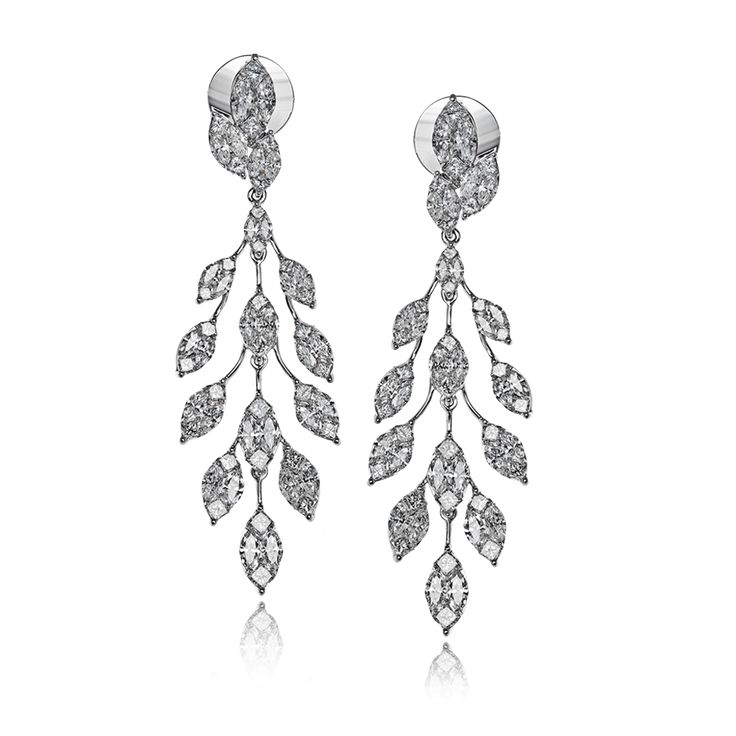 Shimmering and shining in the light, these exquisite earrings feature 4.41 ctw o...