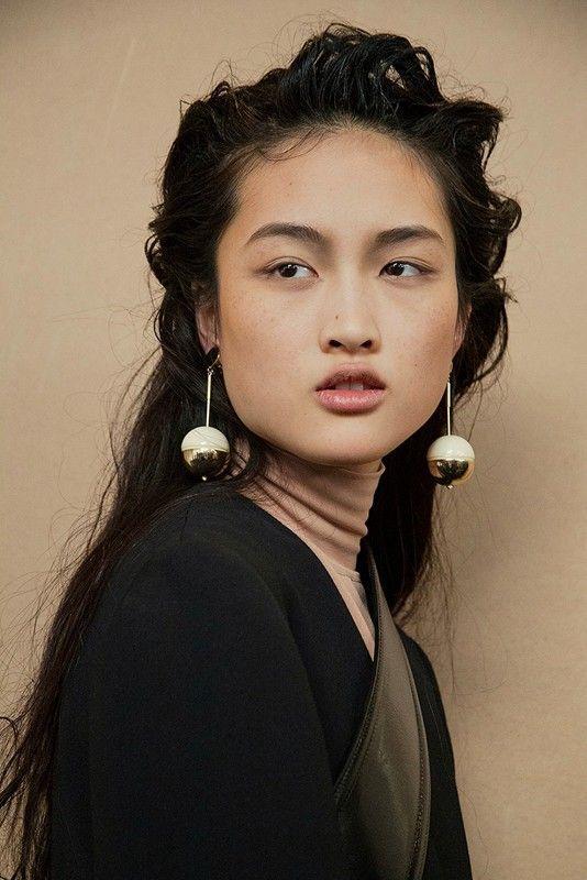 Sphere drop earrings at Marni AW15 MFW.| ♦F&I♦