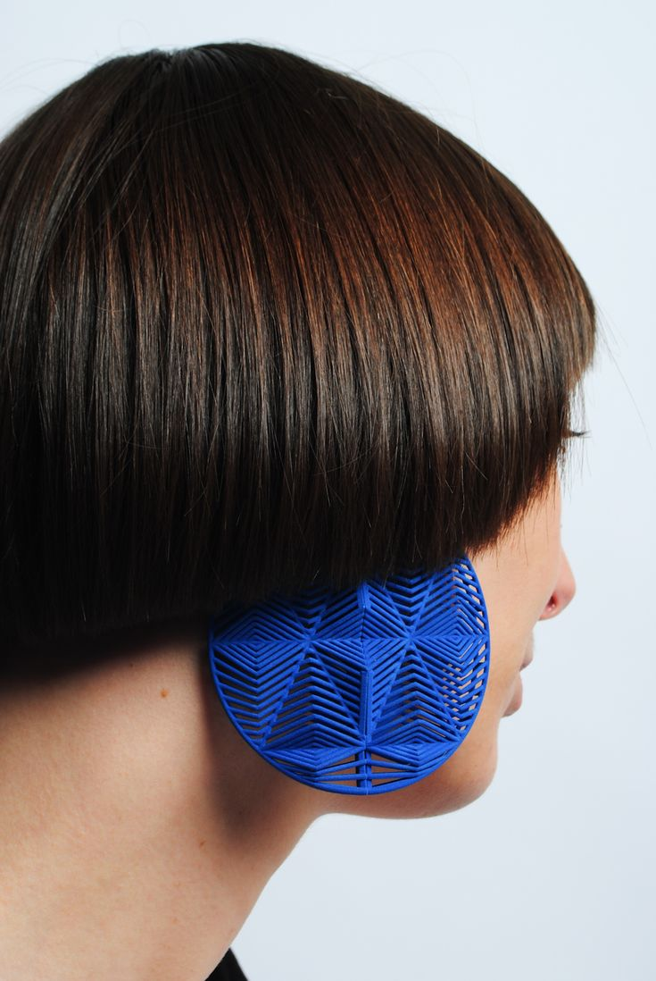 Theresa Burger: Earrings via 3D Printing #jewelry #3Dprinting |♦F&I♦