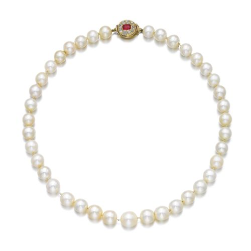 By family tradition, these pearls were given by Princess Victoria Eugenie of Bat...