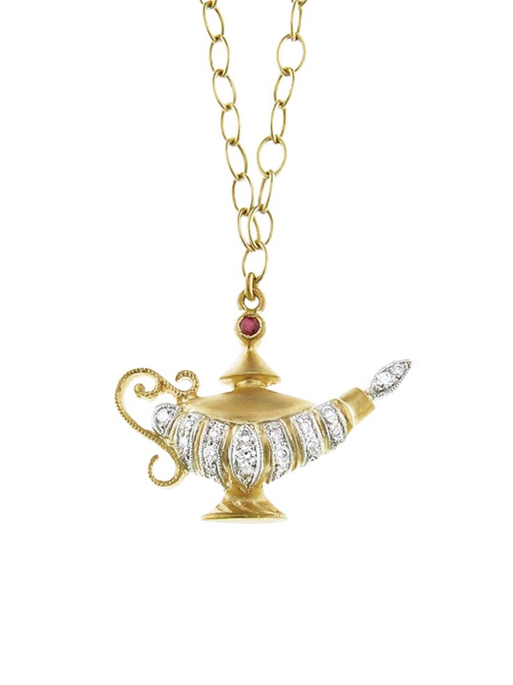 CATHY WATERMAN Aladdin's Lamp Necklace