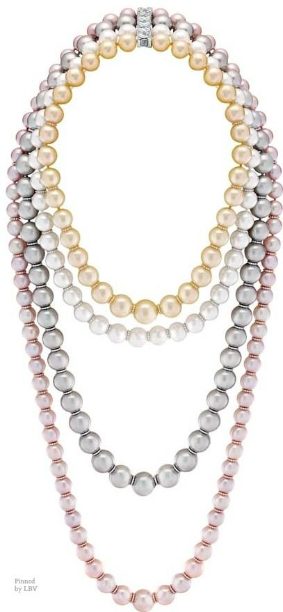 "Chanel – Les Perles de Chanel – ""Perles Swing"" necklace in white, yellow..."
